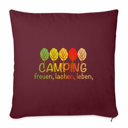 Camping, freuen, lachen, leben - deutsch - Sofakissen mit Füllung 44 x 44 cm