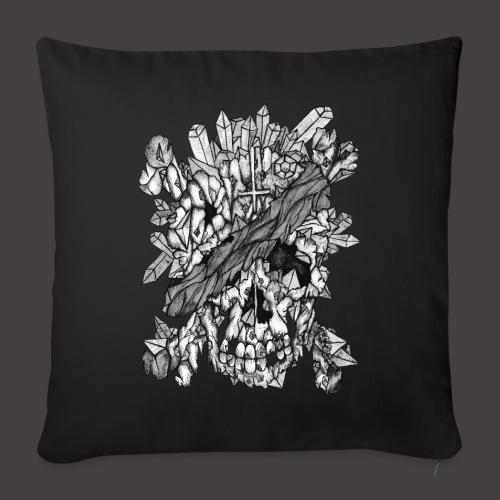 Crane de Pirate de Cristal Noir et Blanc - Coussin et housse de 45 x 45 cm