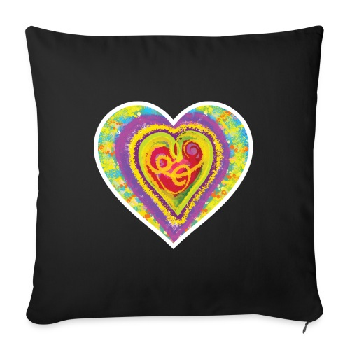 Life is a colorful circus - Sofa pillow with filling 45cm x 45cm