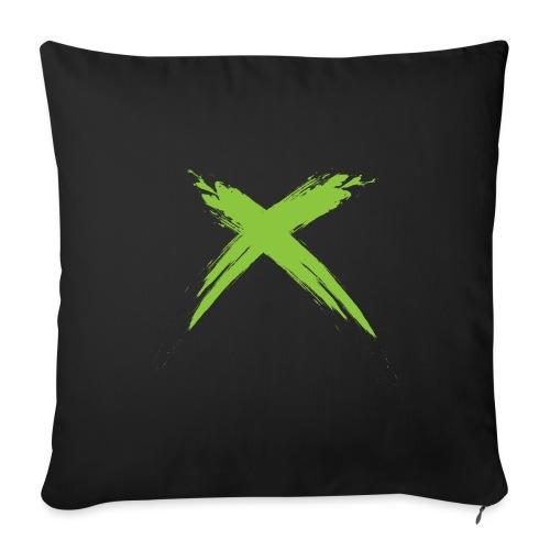 X - Cojín de sofá con relleno 44 x 44 cm