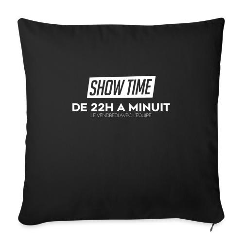 Logo ShowTime Blanc - Coussin et housse de 45 x 45 cm