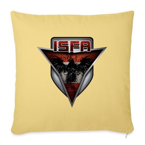 isfa logo abzeichen1 - Sofakissen mit Füllung 44 x 44 cm
