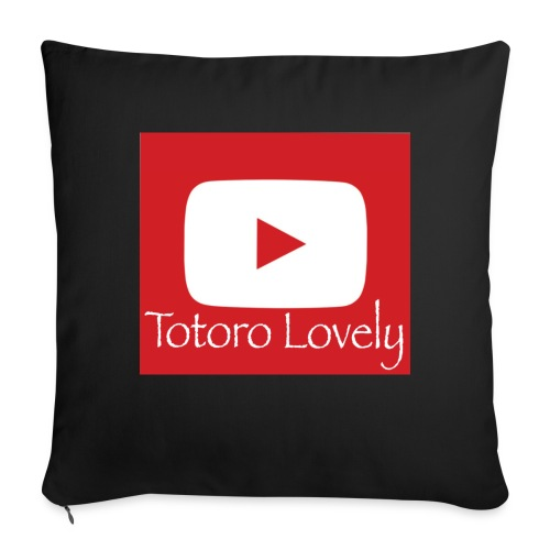 Totoro Lovely + YT logo bak, fram - Soffkudde med stoppning 44 x 44 cm