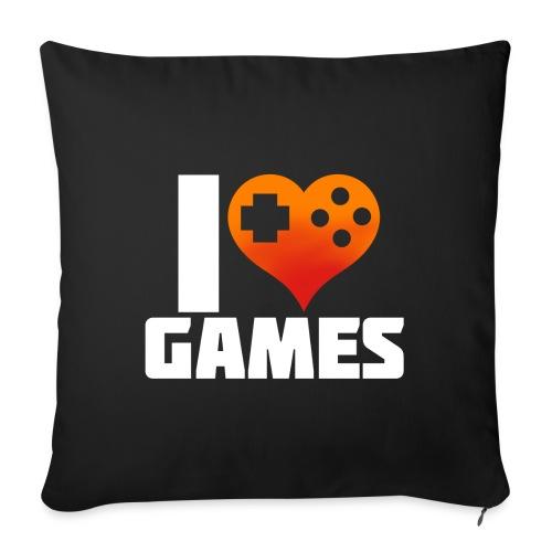 I <3 Games - Sofakissen mit Füllung 44 x 44 cm