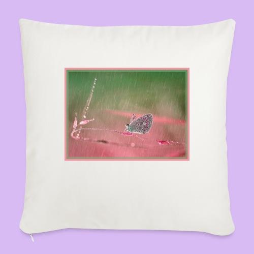 Farfalla nella pioggia leggera - Cuscino da divano 44 x 44 cm con riempimento