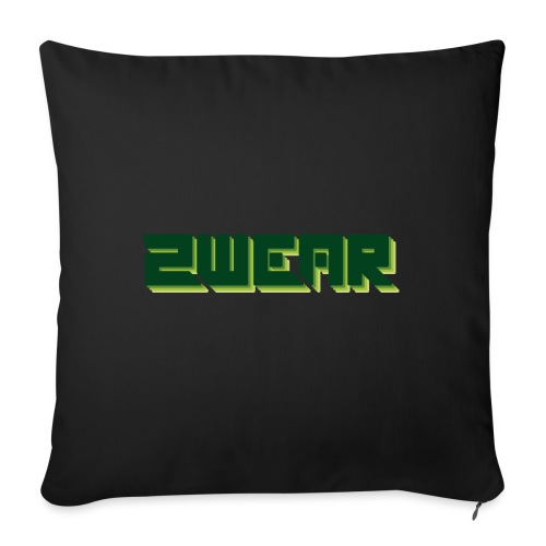 2wear Green Box Logo - Sofapude med fyld 44 x 44 cm