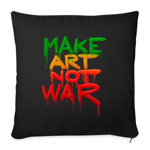Make Art Not War - Sofapude med fyld 44 x 44 cm