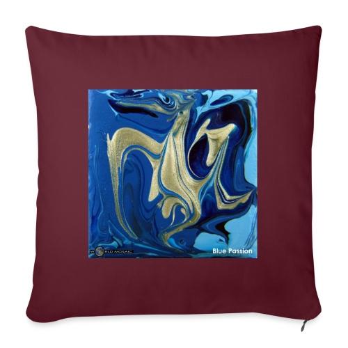TIAN GREEN Welt Mosaik - AT042 Blue Passion - Sofakissen mit Füllung 44 x 44 cm