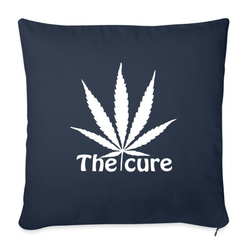 The cure of cannabis leaf. - Sofa pillow with filling 45cm x 45cm