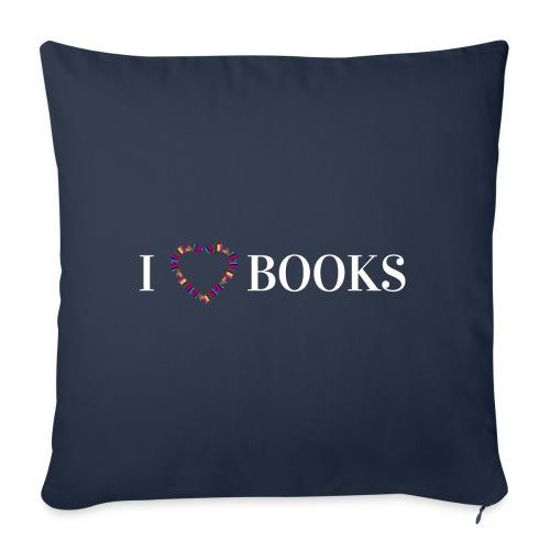 I love Books - Sofakissen mit Füllung 44 x 44 cm