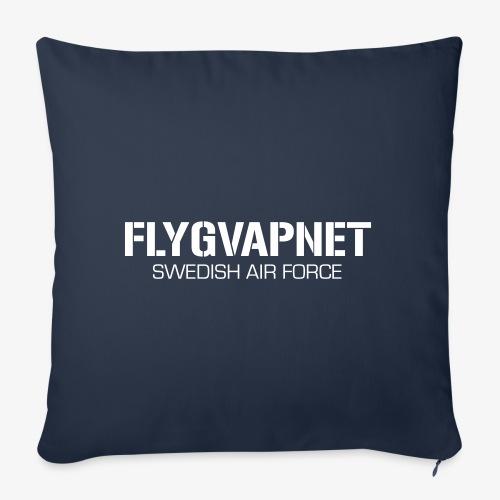 FLYGVAPNET - SWEDISH AIR FORCE - Soffkudde med stoppning 44 x 44 cm