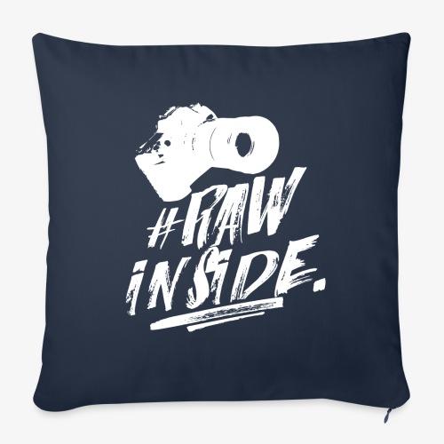 RAW INSIDE wte - Cuscino da divano 44 x 44 cm con riempimento