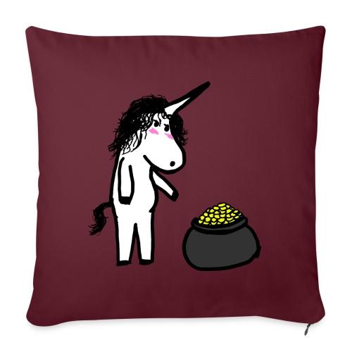 Oro unicorno - Cuscino da divano 44 x 44 cm con riempimento