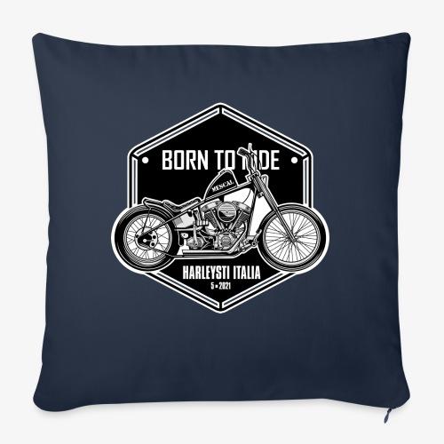 Born to Ride - Vintage motorbike - Cuscino da divano 44 x 44 cm con riempimento