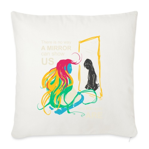 Mirrors - Sofa pillow with filling 45cm x 45cm