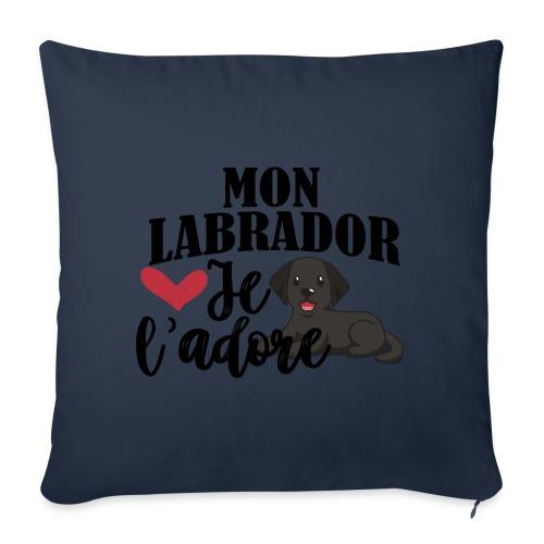 Mon Labrador Je L'adore - Coussin et housse de 45 x 45 cm