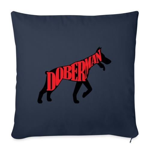 Doberman Superhero - Coussin et housse de 45 x 45 cm