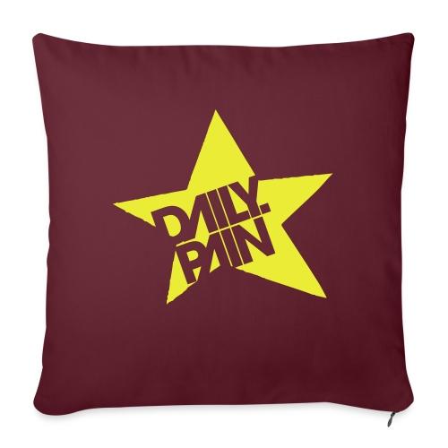 daily pain star - Poduszka na kanapę z wkładem 44 x 44 cm