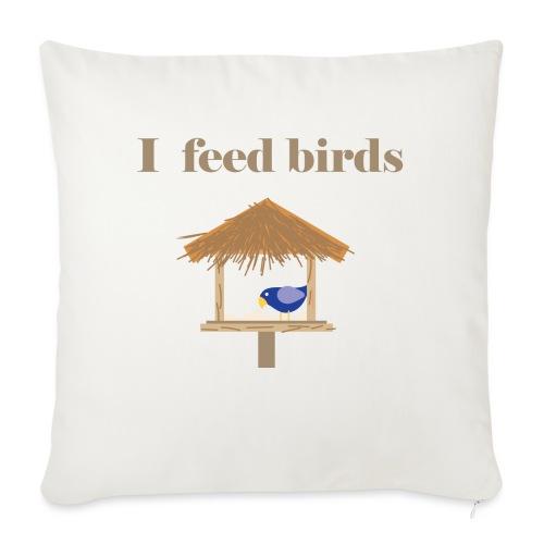 I feed birds - Sohvatyynyt täytteellä 44 x 44 cm