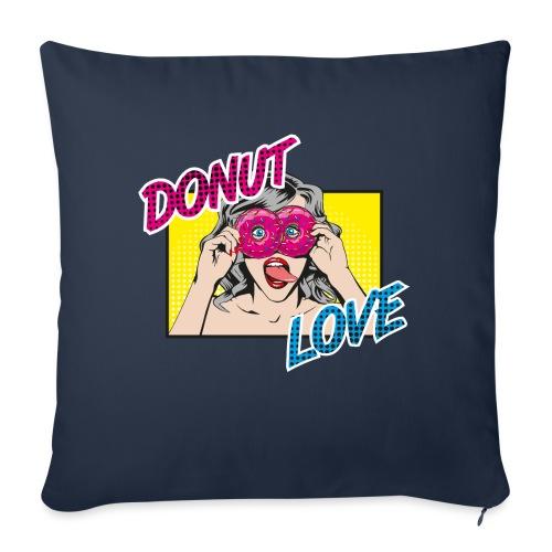 Popart - Donut Love - Zunge - Süßigkeit - Sofakissen mit Füllung 44 x 44 cm