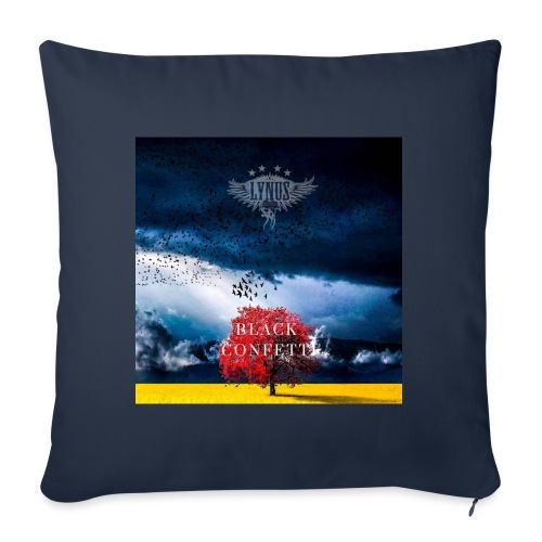 Black Confetti Promo Design - Sofa pillow with filling 45cm x 45cm