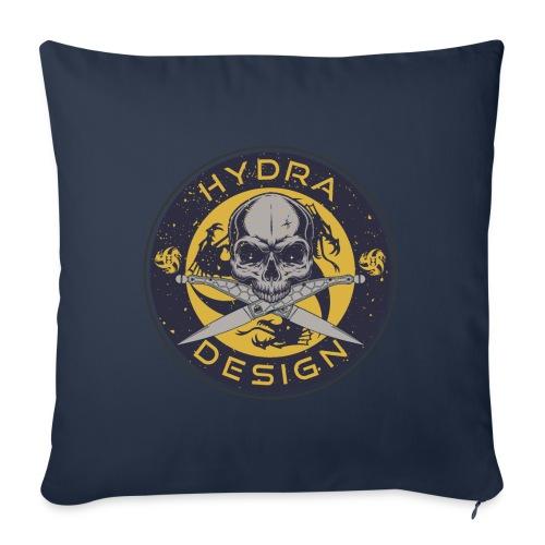 Hydra Design Roman knives & skull - Cuscino da divano 44 x 44 cm con riempimento