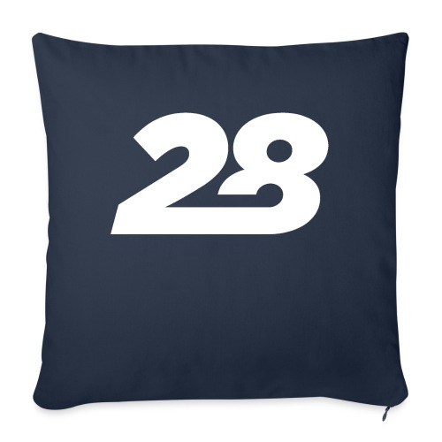 28 White - Sofa pillow with filling 45cm x 45cm