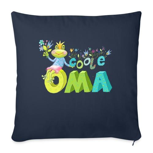 Cooler Frosch für Oma - Sofakissen mit Füllung 44 x 44 cm