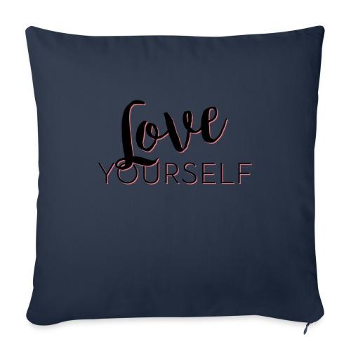 Love Yourself -Schriftzug Pascal Voggenhuber - Sofakissen mit Füllung 44 x 44 cm