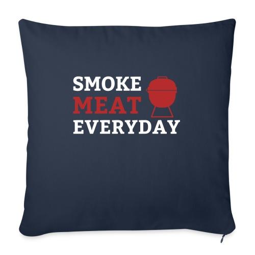 smoke meat everyday shirt - Sofakissen mit Füllung 44 x 44 cm
