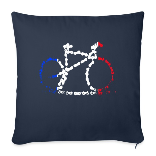French bike chain - Sofa pillow with filling 45cm x 45cm