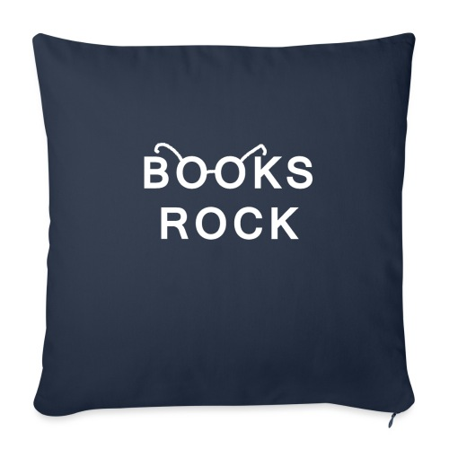 Books Rock White - Sofa pillow with filling 45cm x 45cm