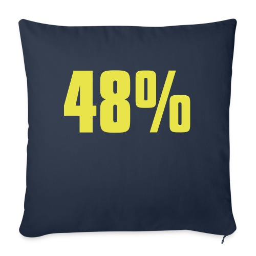 48% - Sofa pillow with filling 45cm x 45cm