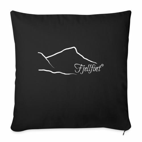 Fjellfint m/hvit logo - Sofapute med fylling 44 x 44 cm