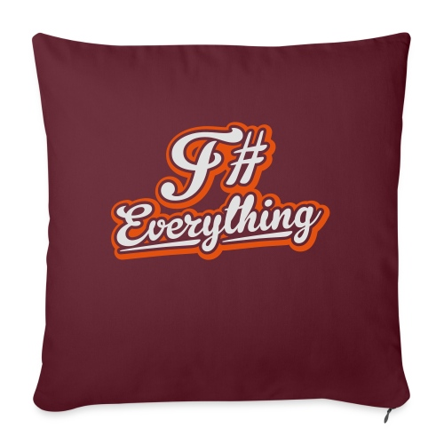 F# Everything - Sofa pillow with filling 45cm x 45cm