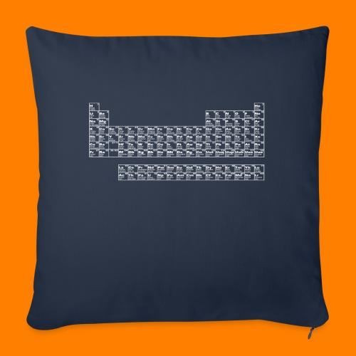 periodic white - Sofa pillow with filling 45cm x 45cm