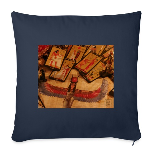 Tarocchi egizi - Cuscino da divano 44 x 44 cm con riempimento