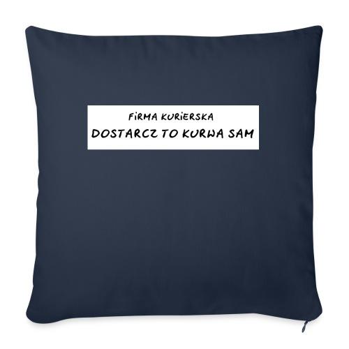 firma kurierska tyl - Poduszka na kanapę z wkładem 44 x 44 cm