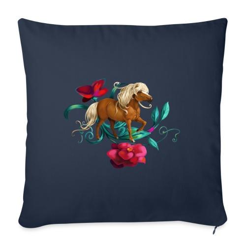 Kamelien Pony - Sofakissen mit Füllung 44 x 44 cm