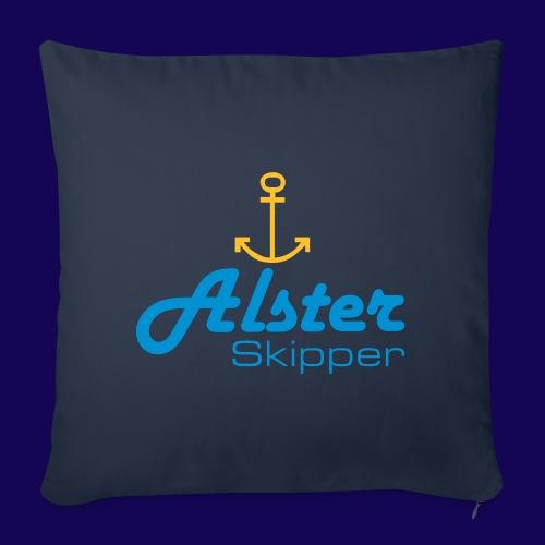 Hamburg maritim: Alster Skipper mit Anker - Sofakissen mit Füllung 44 x 44 cm