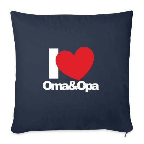 I Love Oma & Opa - Sofakissen mit Füllung 44 x 44 cm