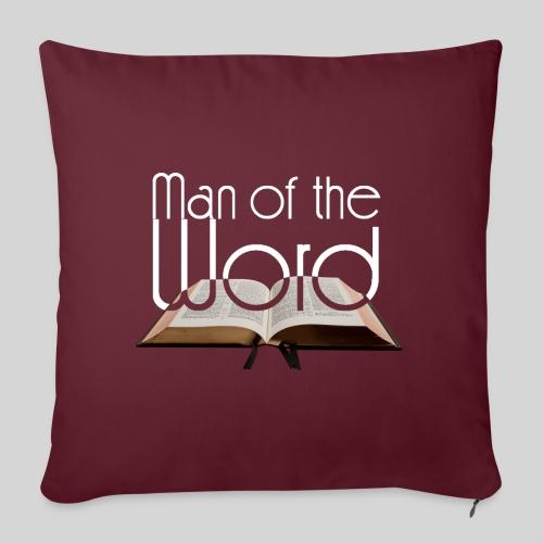 man of the Word - Mann des Wortes - der Bibel weiß - Sofakissen mit Füllung 44 x 44 cm