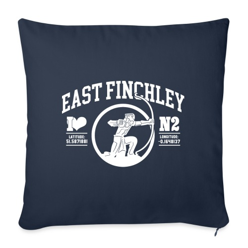 EF College Style Type and Archer Design - Sofa pillow with filling 45cm x 45cm