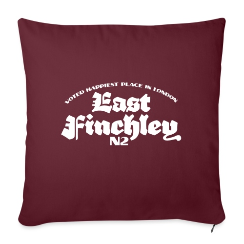 East Finchley Blackletter - Sofa pillow with filling 45cm x 45cm