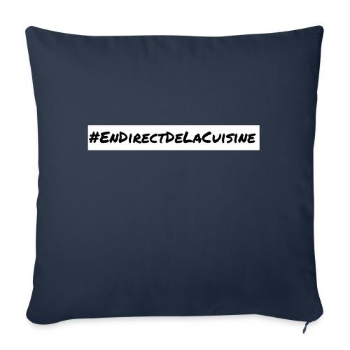 #EnDirectDeLaCuisine - Coussin et housse de 45 x 45 cm