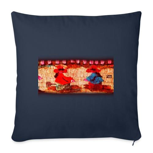 Dos Paisanitas tejiendo telar inca - Coussin et housse de 45 x 45 cm