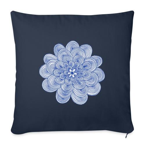 hypnotic flower blue - Cuscino da divano 44 x 44 cm con riempimento