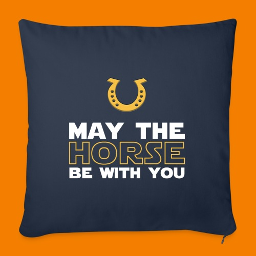May the horse be with you - Soffkudde med stoppning 44 x 44 cm