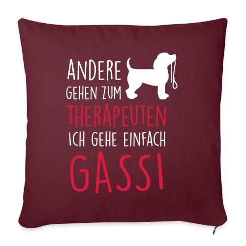 Vorschau: Gassi Therapeut Hund - Sofakissen mit Füllung 44 x 44 cm