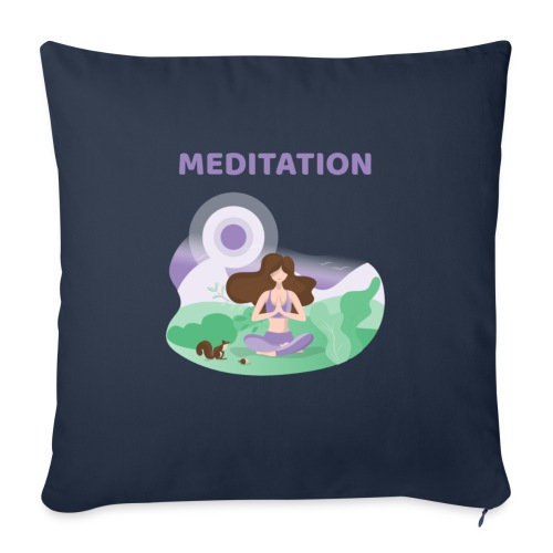 Yoga Meditation - Cuscino da divano 44 x 44 cm con riempimento